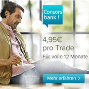 Nur 4,95 Pro Trade bei der Consorsbank