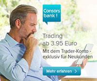 4,95 pro Trade bei der Consorsbank